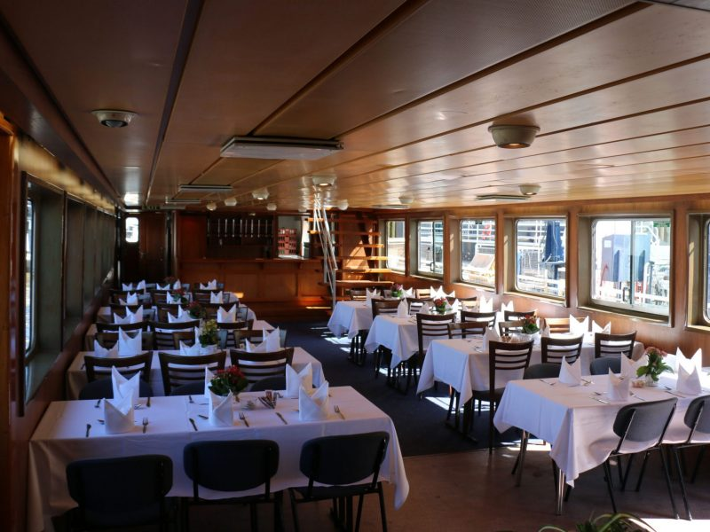 Interior view of the Thames Princess from Thames Cruises