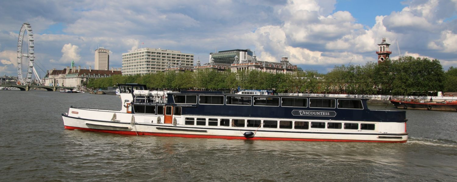 The Viscountess, one of the Thames Cruises fleet