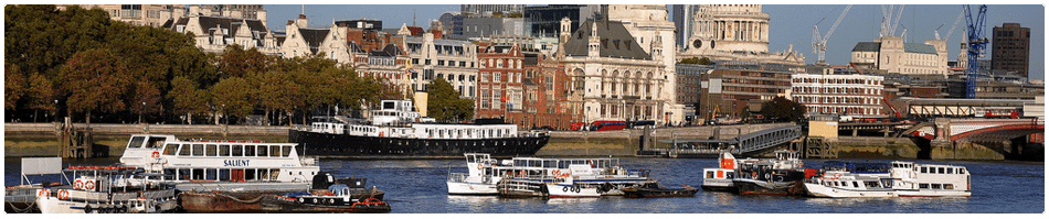 Lambeth Pier, home of Thames Cruises